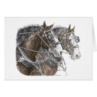 Équipe de cheval de trait de Clydesdale Carte De Vœux