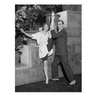 Équipe de danse de cabaret les années 1920 carte postale
