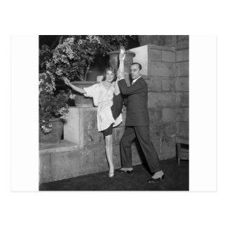 Équipe de danse de cabaret les années 1920 cartes postales