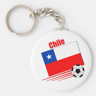 Équipe de football chilienne porte-clé rond