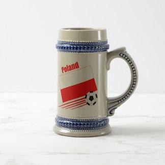 Équipe de football polonaise chope à bière