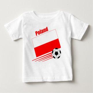 Équipe de football polonaise t-shirt pour bébé