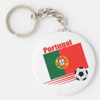 Équipe de football portugaise porte-clé rond