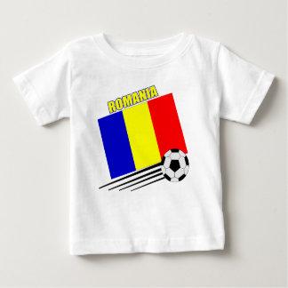 Équipe de football roumaine t-shirt pour bébé