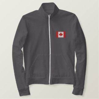 Équipe de hockey canadienne faite sur commande vestes brodées