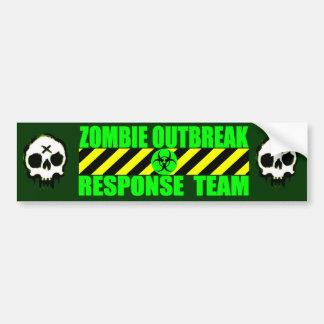 Équipe de réponse de manifestation de zombi autocollant pour voiture
