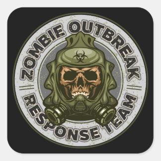 Équipe de réponse de manifestation de zombi sticker carré