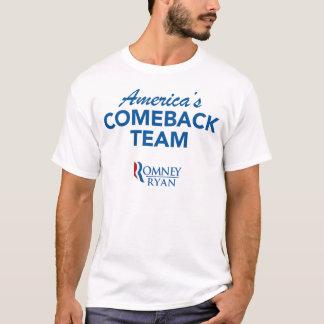 Équipe de retour de Romney Ryan Amérique T-shirt