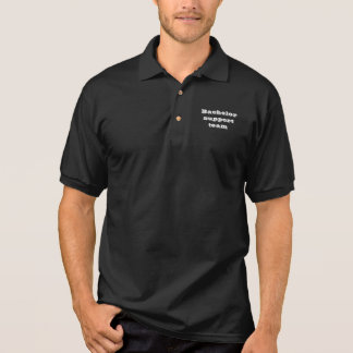 Équipe de soutien de célibataire polo