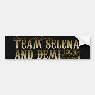 Équipe Demi et Selena Autocollant Pour Voiture