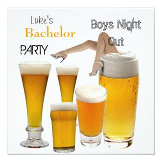 Équipe des jambes de nuit de garçons de bière carton d'invitation  13,33 cm