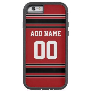 Équipe Jersey avec le nom et le nombre faits sur Coque Tough Xtreme iPhone 6