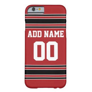 Équipe Jersey avec le nom et le nombre faits sur Coque iPhone 6 Barely There