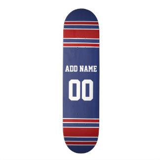 Équipe Jersey avec le nom et le nombre faits sur Skateboard