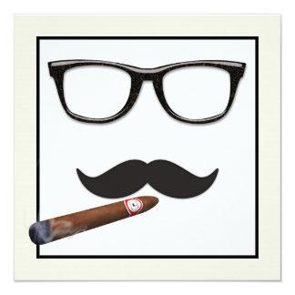 Équipe la fête d'anniversaire de moustache carton d'invitation  13,33 cm