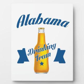 Équipe potable de l'Alabama Plaque D'affichage