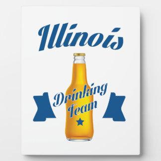 Équipe potable de l'Illinois Plaque Photo