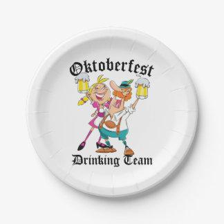 Équipe potable d'Oktoberfest Assiettes En Papier