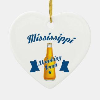 Équipe potable du Mississippi Ornement Cœur En Céramique