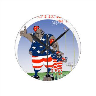 Équipe rêveuse des Etats-Unis, fernandes élégants Horloge Ronde