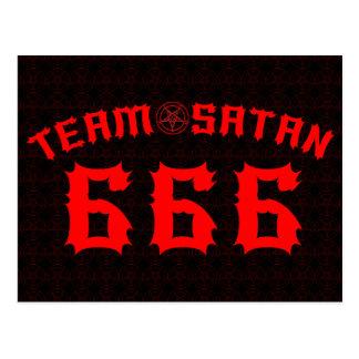Équipe Satan 666 Carte Postale