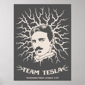 Équipe Tesla Affiches