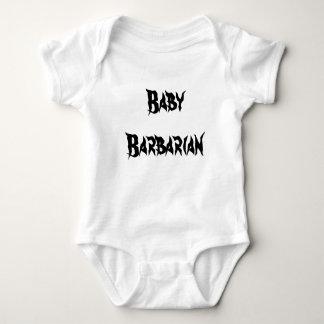 Équipement barbare de bébé d'haltère body