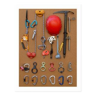 Équipement de grimpeurs -- carte postale