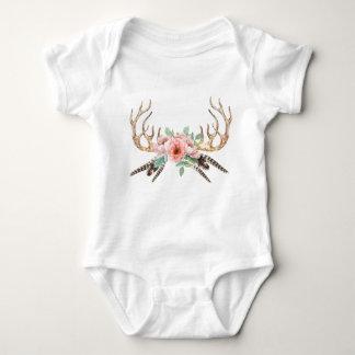 Équipement floral de bébé d'Antler Body