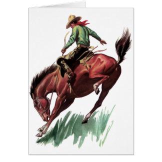 Équitation de Bronc de selle Cartes