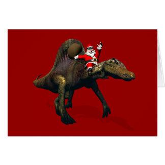 Équitation du père noël sur Spinosaurus Cartes