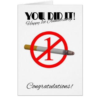 ęr Anniversaire de l'abandon fumant la carte de