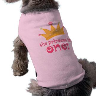 Ęr anniversaire mignon le cadeau de princesse Is T-shirt Pour Chien