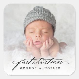 Ęr autocollant de Noël de bébé classique