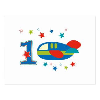 ęr Avion d'anniversaire Cartes Postales