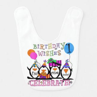 Ęr bavoir d'anniversaire de pingouins idiots