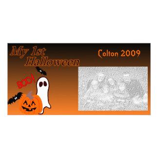 ęr Carte photo de Halloween Carte Avec Photo