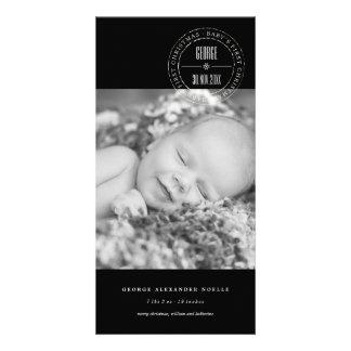Ęr carte photo de Noël de cercle de bébé classique Photocarte
