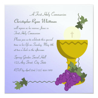 ęr Communion Carton D'invitation 13,33 Cm