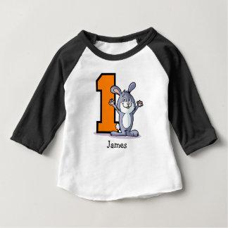 ęr Coutume de lapin d'anniversaire T-shirt Pour Bébé