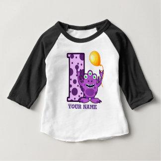 ęr Coutume de monstre d'anniversaire T-shirt Pour Bébé