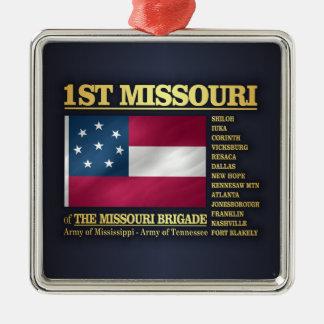 ęr Infanterie du Missouri (BA2) Ornement Carré Argenté
