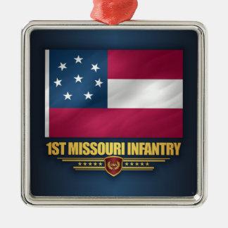 ęr Infanterie du Missouri Ornement Carré Argenté