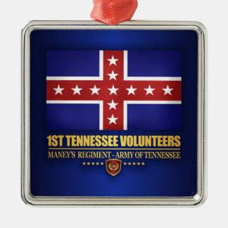 ęr Infanterie du Tennessee (F10) Ornement Carré Argenté