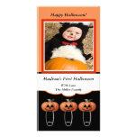 ęr La couche-culotte de citrouille de Halloween go Cartes De Vœux Avec Photo