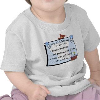ęr L'anniversaire ont fait le bleu T-shirts