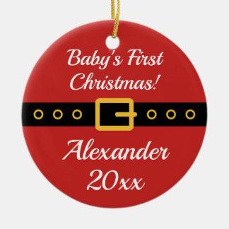 Ęr ornement d'arbre du père noël de Noël du bébé