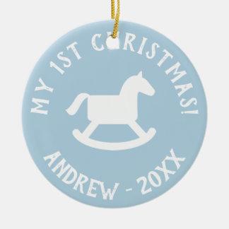 Ęr ornement de cheval de basculage d'arbre de Noël