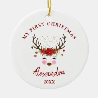 Ęr ornement de Noël de bébé mignon de renne