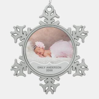 Ęr ornement de Noël de souvenir de PHOTO de Babys
